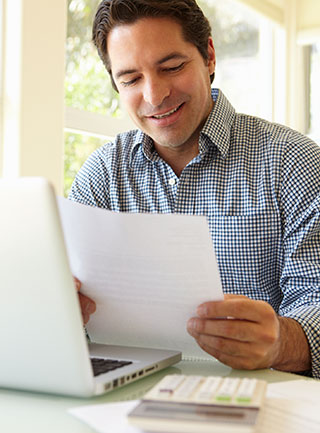 Man enjoys predictable payments with a budget plan